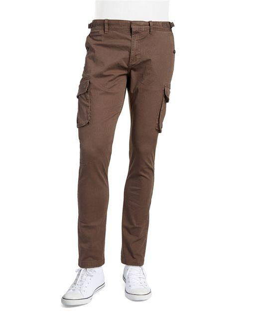 Original Penguin   Brown Stretch Cotton Cargo Pants for Men   Lyst