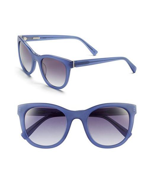 Derek Lam | Blue 'haley' 52mm Sunglasses | Lyst
