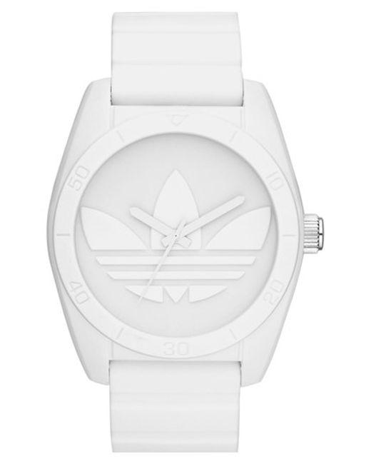 Adidas Originals | Black 'santiago' Silicone Strap Watch | Lyst
