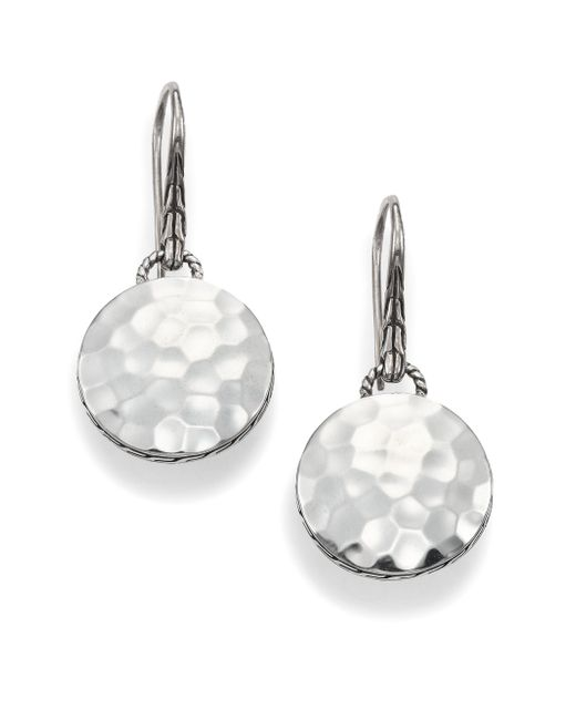 John Hardy | Metallic Palu Sterling Silver Disc Drop Earrings | Lyst