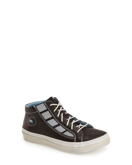 Cloud | Black 'aglaia' Leather High Top Sneakers | Lyst