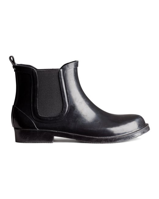 H&M | Black Suede Ankle Boots | Lyst