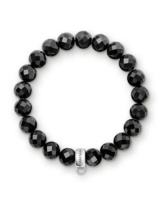 Thomas Sabo   Charm Club Black Obsidian Stone Bracelet   Lyst