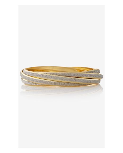 Express | Metallic Rolled Glitter Trio Bangle Bracelet | Lyst