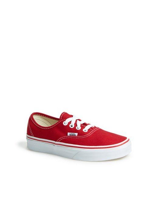 Vans   Red 'authentic' Sneaker   Lyst