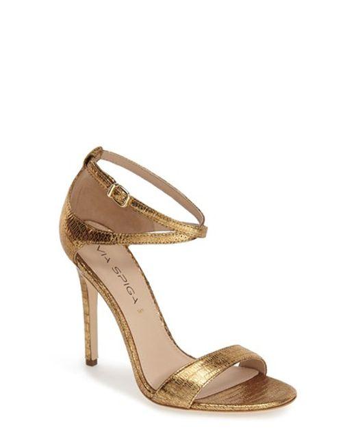 Via Spiga | Metallic 'tiara' Sandal | Lyst