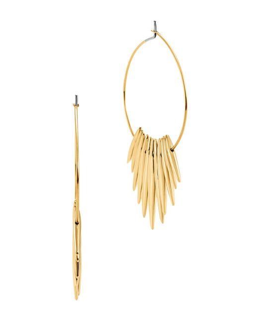 michael kors gold tribal hoop earrings lyst. Black Bedroom Furniture Sets. Home Design Ideas