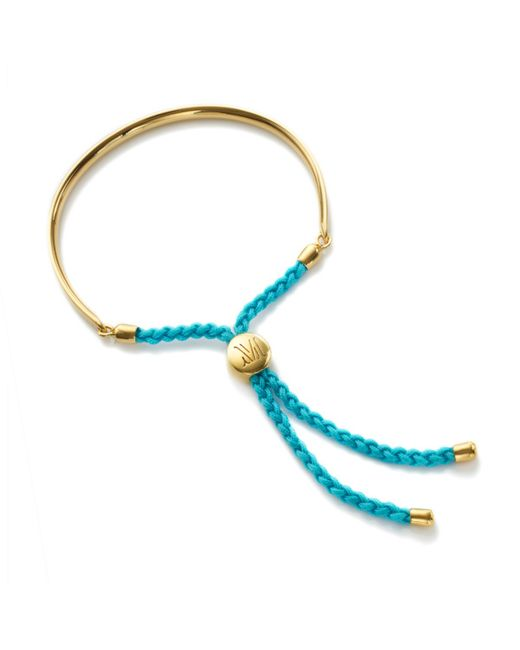 Monica Vinader | Blue Peace Fiji Bracelet Y Gold | Lyst