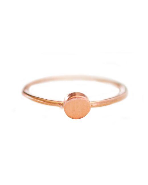 Cloverpost | Pink Mini Circle Ring | Lyst