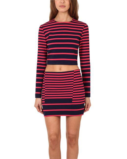 Thakoon | Blue Addition Striped Mini Skirt | Lyst
