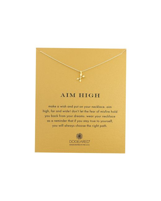 Dogeared | Metallic Aim High Crossing Arrows Necklace | Lyst