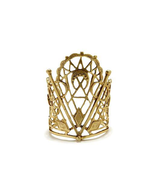 Bing Bang | Metallic Sacred Geometry Cuff | Lyst