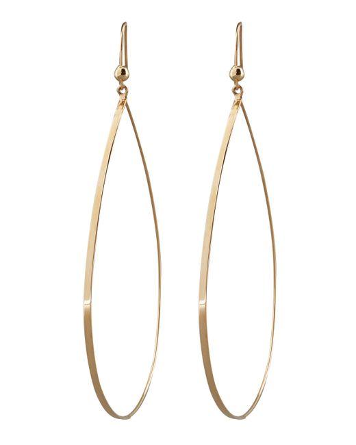 Lana Jewelry | Metallic Gold Flat Teardrop Earrings | Lyst