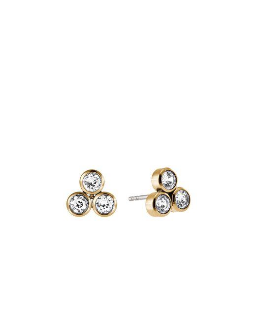 Michael Kors | Metallic Crystal Gold-tone Cluster Earrings | Lyst