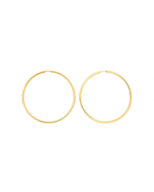 Azendi | Metallic Gold Plated Silver Hoops 5cm | Lyst