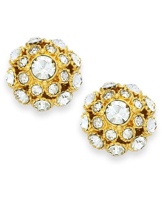Kate Spade | Metallic 12k Gold-plated Crystal Ball Stud Earrings | Lyst