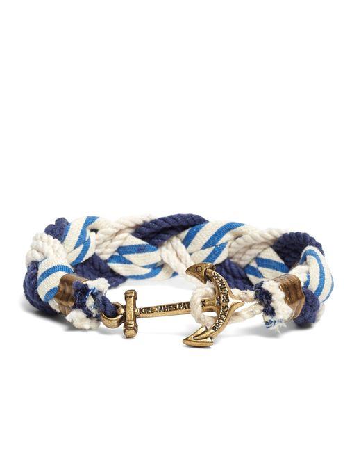 Brooks Brothers | Blue Kiel James Patrick Stripe Braided Bracelet for Men | Lyst
