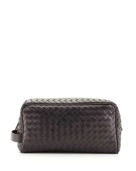 Bottega Veneta | Black Woven Leather Toiletry Kit for Men | Lyst