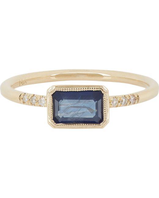 Jennie Kwon | Metallic Sapphire, Pavé Diamond & Gold Ring | Lyst