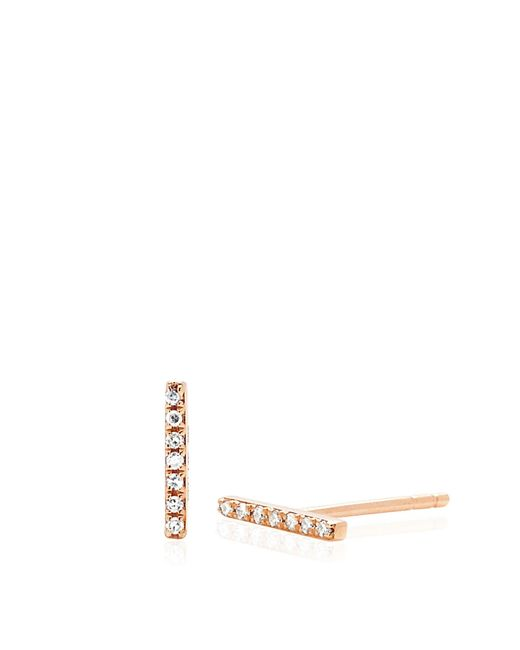 EF Collection | Metallic 14k Diamond Bar Studs | Lyst