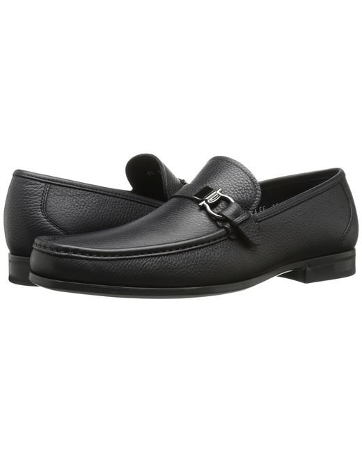Ferragamo | Black Muller Calfskin Loafers for Men | Lyst