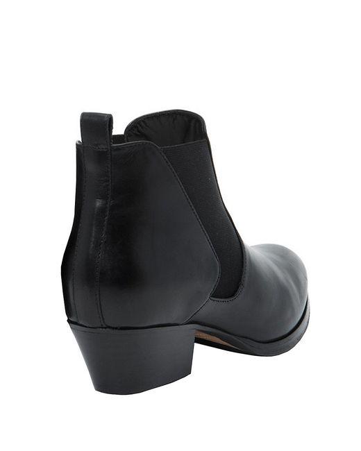 Aquatalia | Black Fabia Leather Ankle Boots | Lyst