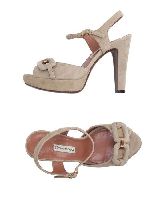 L'Autre Chose | Natural Sandals | Lyst