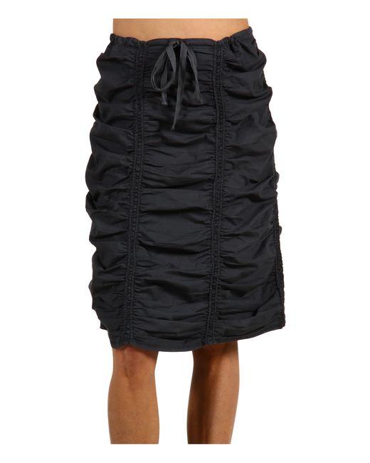 XCVI | Black Double Shirred Panel Knee Length Skirt | Lyst