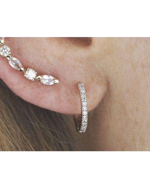 i+i | Metallic Diamond Half Hoop Earrings | Lyst