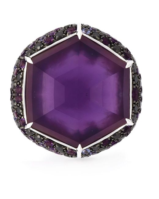 Stephen Webster | Metallic Sapphire Diamond Cocktail Ring | Lyst