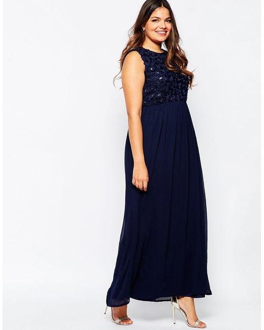 Navy plus size maxi dresses