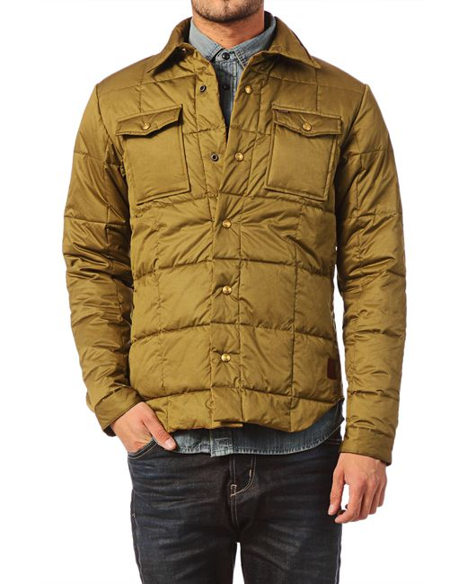 scotch soda quilted jacket in green for men save 50. Black Bedroom Furniture Sets. Home Design Ideas