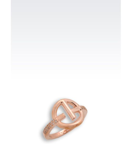 Emporio Armani   Metallic Ring   Lyst