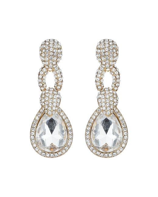 Mikey | Metallic Triple Link Marquise Stone Earring | Lyst