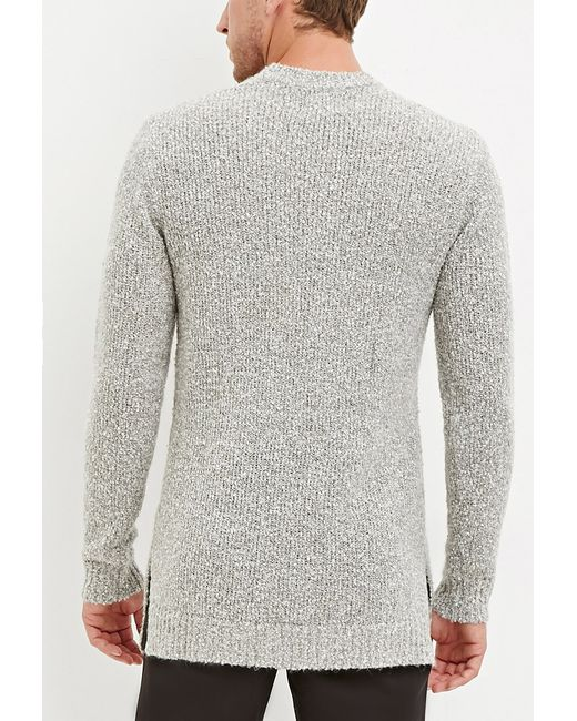 Forever 21 | Gray Textured Loop-knit Sweater for Men | Lyst