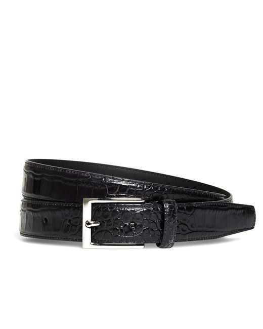 Brooks Brothers | Black Embossed Leather Belt for Men | Lyst