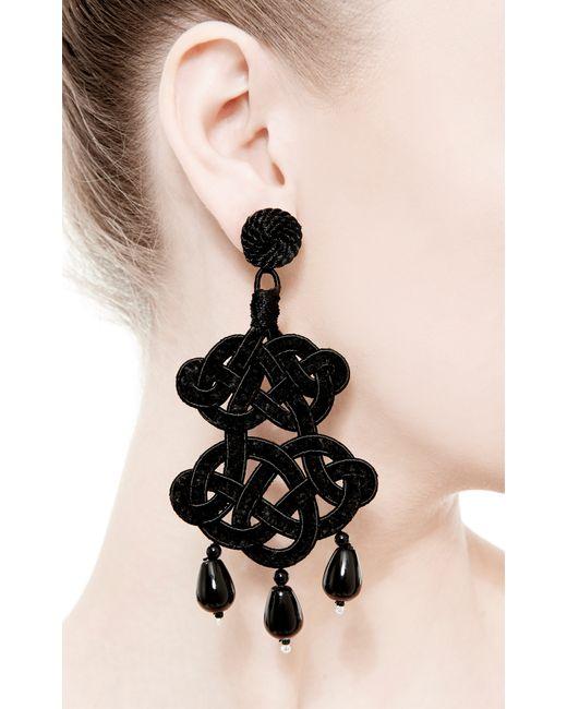 Anna E Alex | Black Chandelier Deco Earrings | Lyst