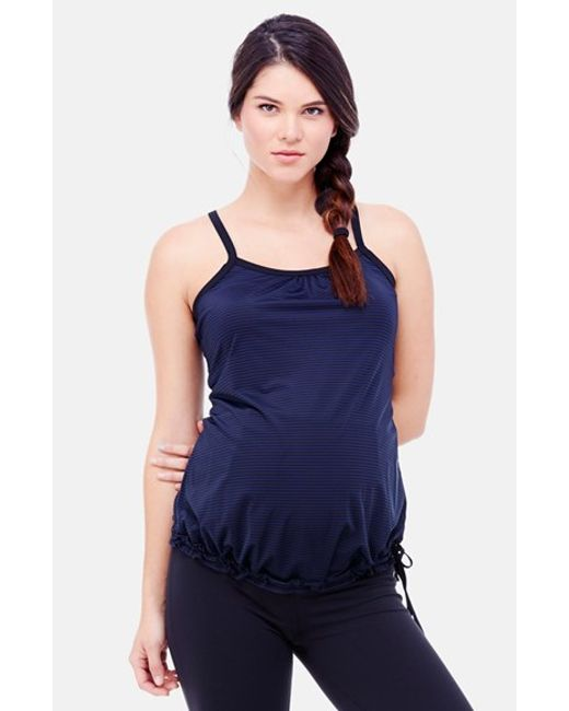 Ingrid & Isabel | Blue Ingrid & Isabel Stripe Maternity Active Tank | Lyst
