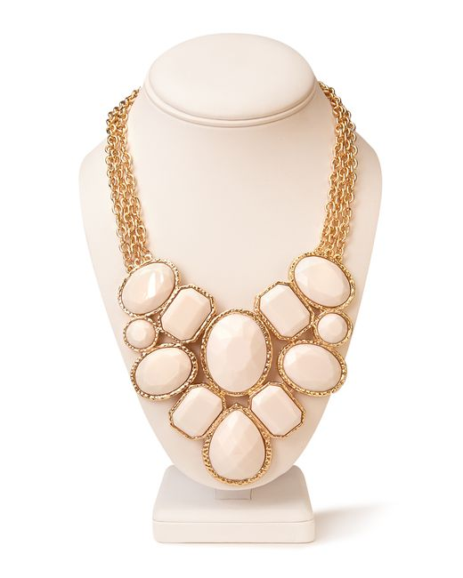 Forever 21   White Forget-me-not Statement Necklace   Lyst