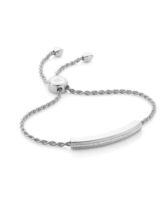 Monica Vinader | Metallic Linear Diamond Chain Bracelet | Lyst