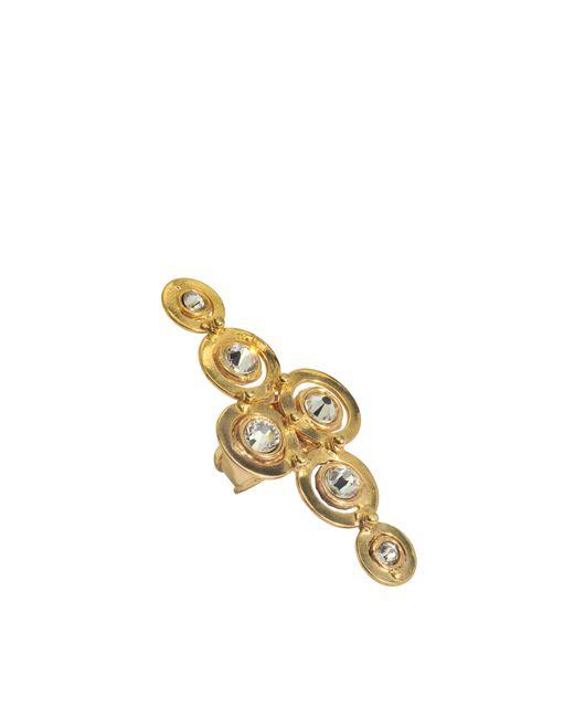 Sylvia Toledano | Metallic Cristal Cross Swarovski Ring | Lyst