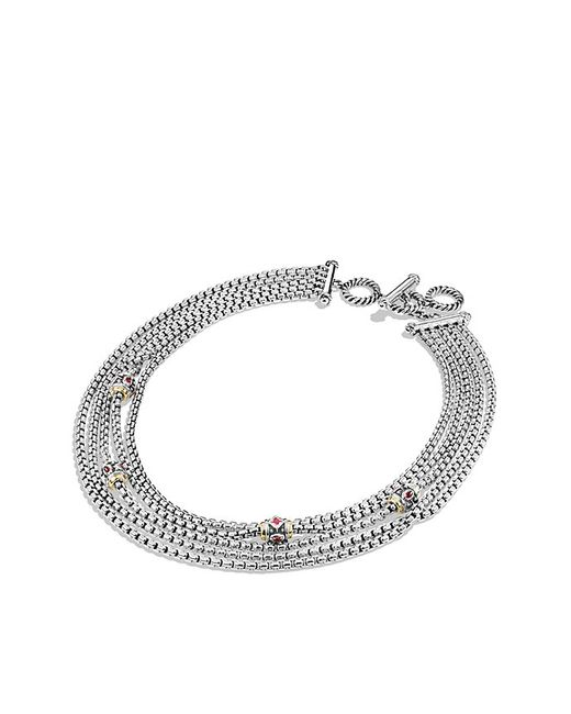 David Yurman | Necklace With Pink Tourmaline, Rhodalite Garnet And 18k Yellow Gold | Lyst