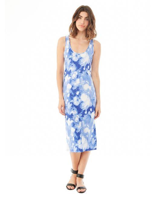 Alternative Apparel | Blue Cotton Modal Racerback Midi Dress | Lyst