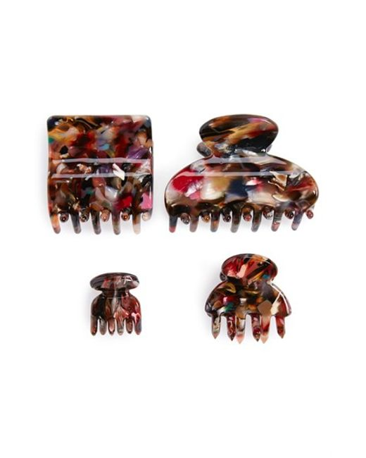 Tasha | Multicolor 'marble' Jaw Clips | Lyst