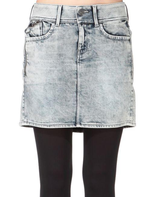 G-Star RAW   Gray Mini Skirt   Lyst