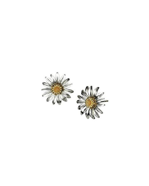 Azendi | Metallic Sterling Silver Marigold Earrings | Lyst