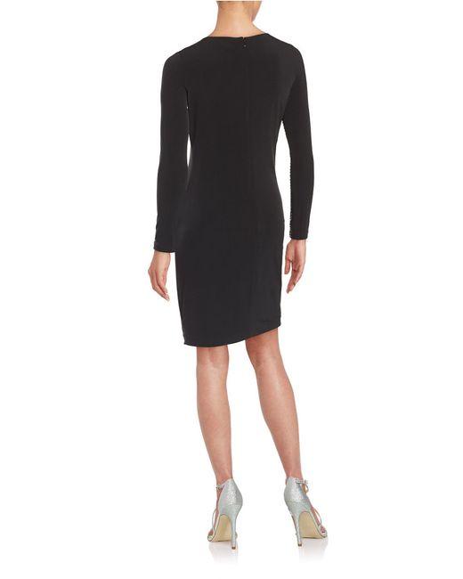 Calvin Klein | Black Embellished Sheath Dress | Lyst