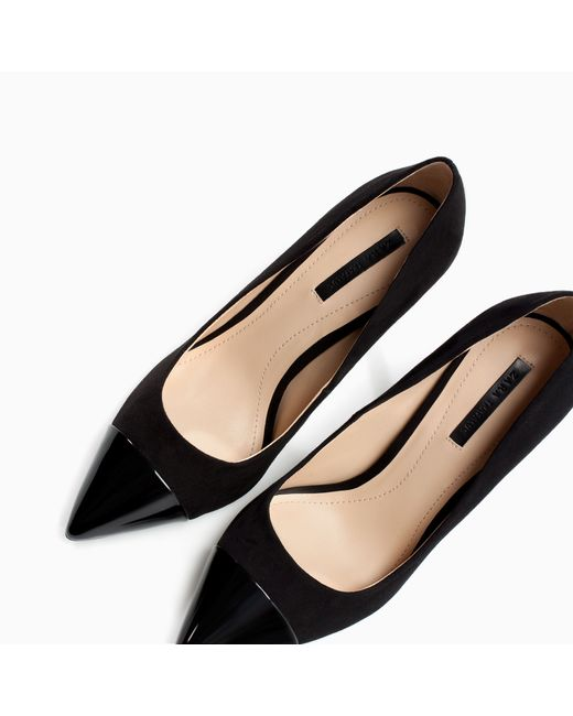zara pointed court shoe in black save 21 lyst
