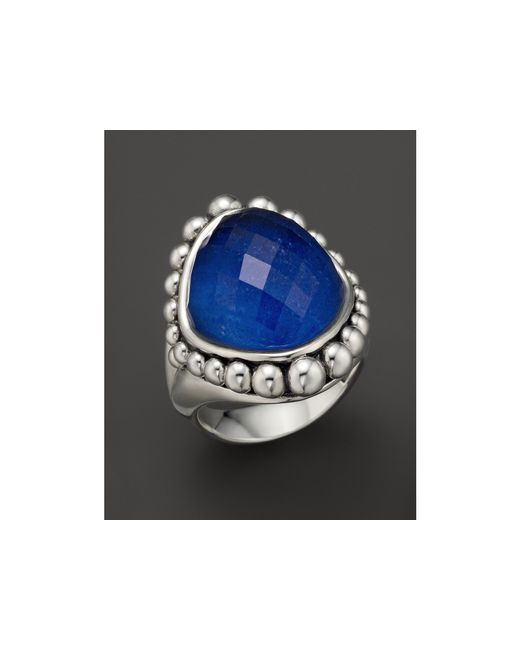 Lagos | Blue Sterling Silver Maya Doublet Dome Ring With Lapis | Lyst