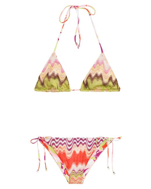 missoni crochet knit bikini multicolour in multicolour save 40 lyst. Black Bedroom Furniture Sets. Home Design Ideas